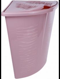 (102885) BQ1700ЙО Корзина для белья Aqua 40 л угловая йогуртовый