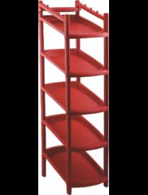(102489) BQ2800ТР Этажерка для обуви узкая 5 полок терраковый