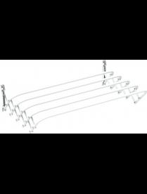 (102532) Сушилка для белья настенная Brio 60 SUPER бел 1/10