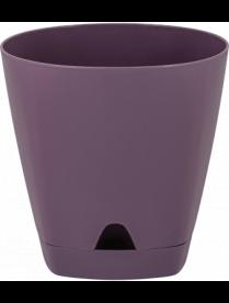 (101827) ING6200МС Горшок для цветов AMSTERDAM D 170 mm/2,5l с подставкой Морозная слива ING6200МС