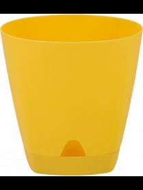 (102436) ING6201СГ Горшок для цветов AMSTERDAM D 200 mm/4l с подставкой Спелая груша ING6201СГ