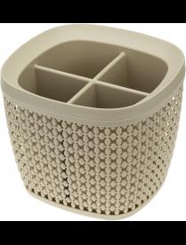 (103642) М1168 Сушилка для столовых приборов ПИРУЛА латте (20)