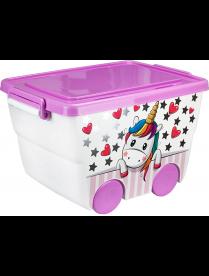 (100225) М2550 Ящик для игрушек 23л ДЕКО единорог