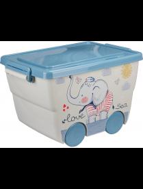 (100226) М2550 Ящик для игрушек 23л ДЕКО слоник