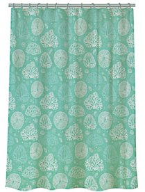 "461-510 VETTA Шторка для ванной, полиэстер, 180x180см, ""Кораллы"", 4 дизайна"