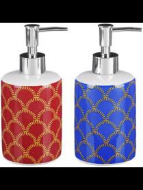 """463-939 VETTA Дозатор для жидкого мыла, """"Чешуя"""", керамика, 2 цвета"""