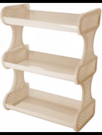 (104449) BQ1682СЛК Полка навесная трехсекционная Nature Слоновая кость