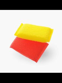 Губки для деликатной уборки в пластиковой оплетке 2 шт.МБ 117