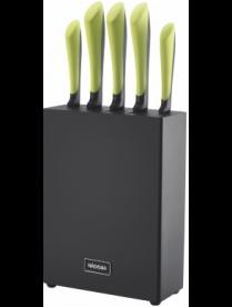 Набор из 5 кухонных ножей с блоком, NADOBA, JANA 723117