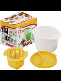 (095442) Форма для приготовления домашнего сыра 2цв. VL80-149