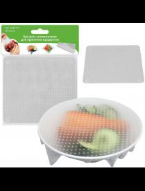 (096818) Крышка силиконовая для хранения продуктов, 14х14 см VL80-171