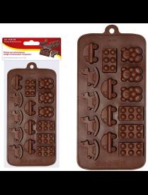 """(105019) Форма для шоколадных конфет силиконовая """"Игрушки"""". VL80-326"""