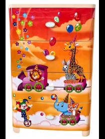 """Комод детский 4-х секционный широкий """"Цирк"""" Бежевый г.Пятигорск"""